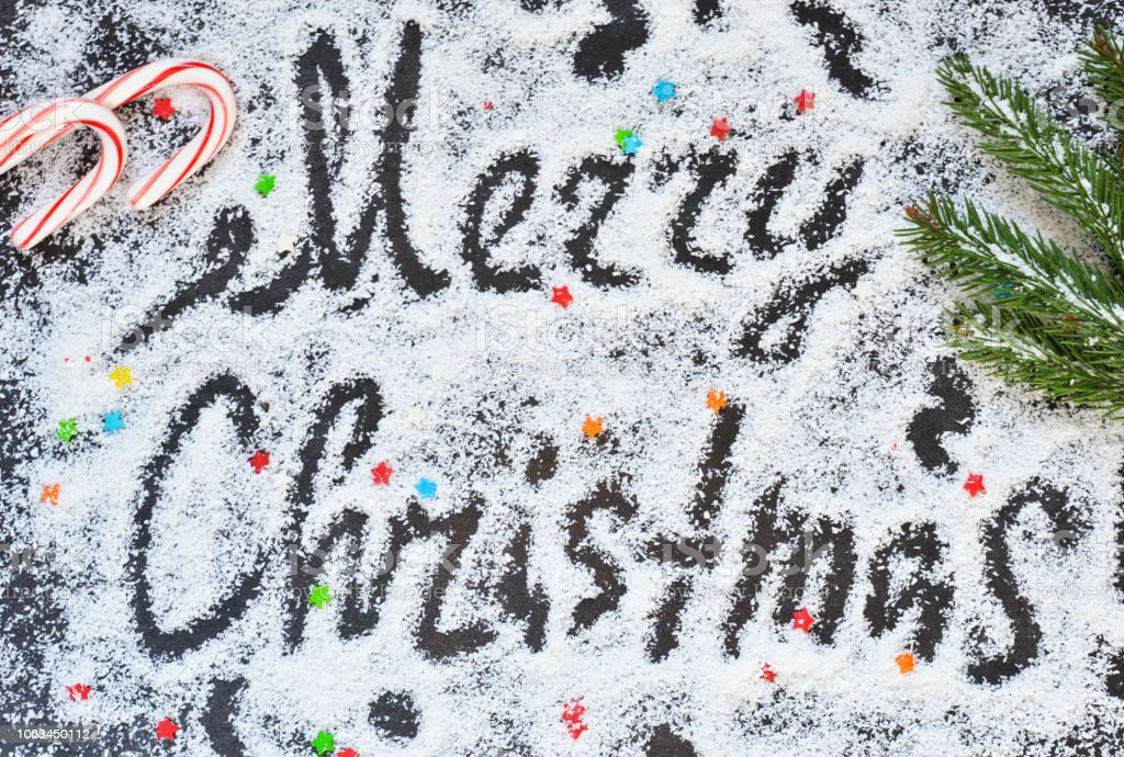 Christmas Graffiti Background.Christmas Background With The Words Merry Christmas And With
