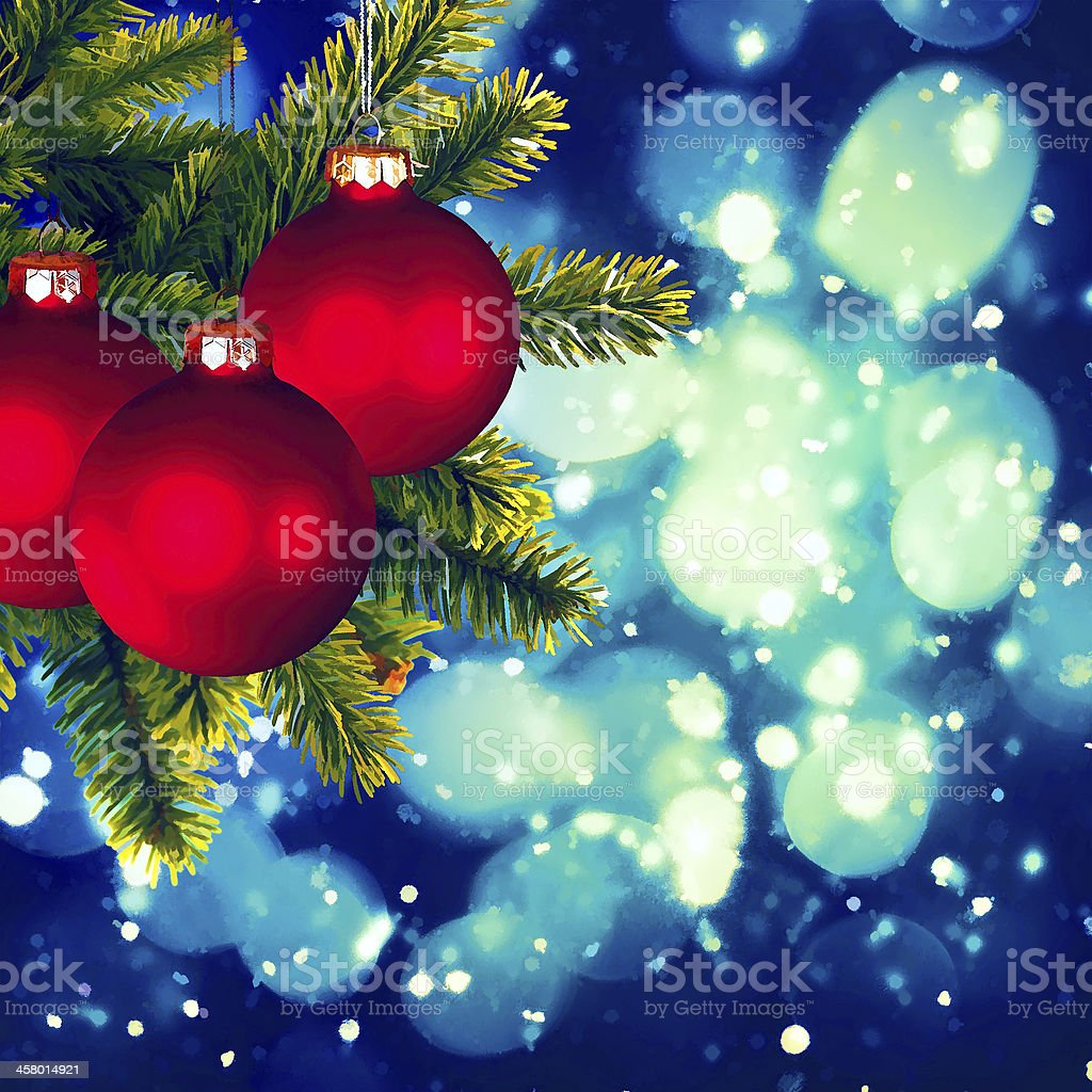 Christmas backgrounds. Art oil painting stylization for your des stock photo