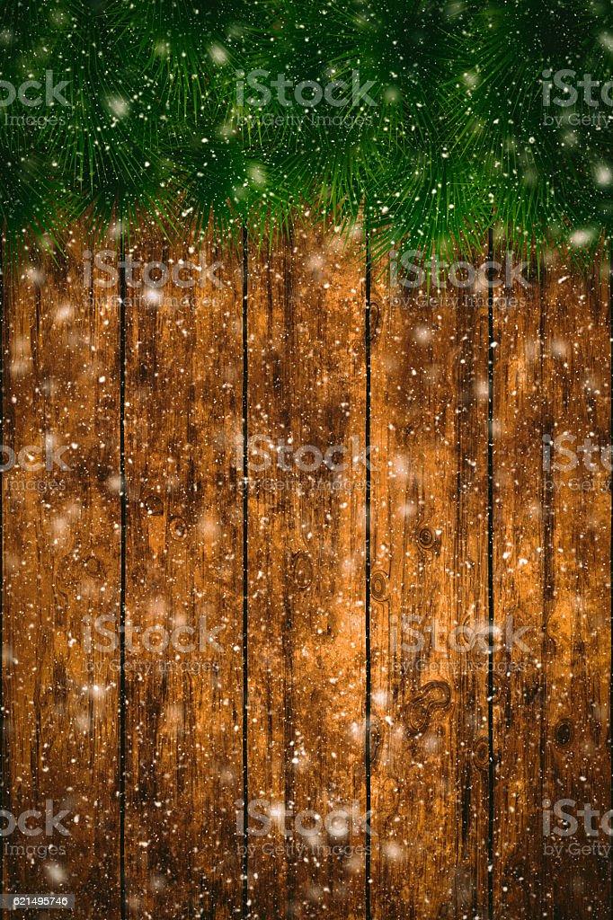 Christmas Backgrounds with snowing photo libre de droits