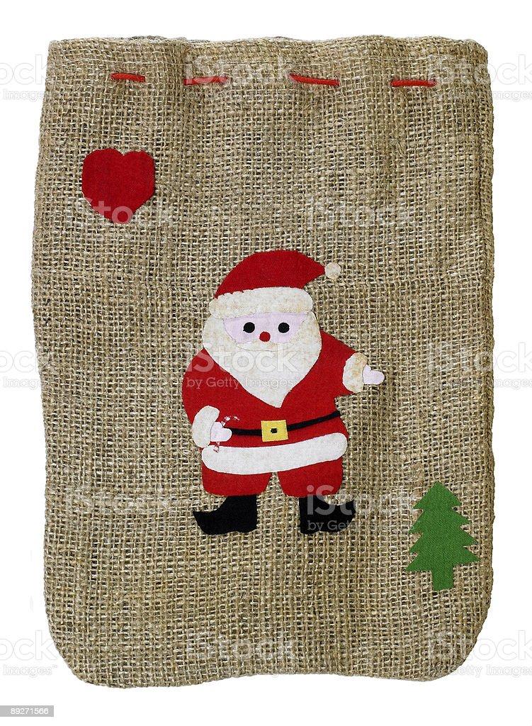 christmas bag with Santa Claus royalty-free stock photo