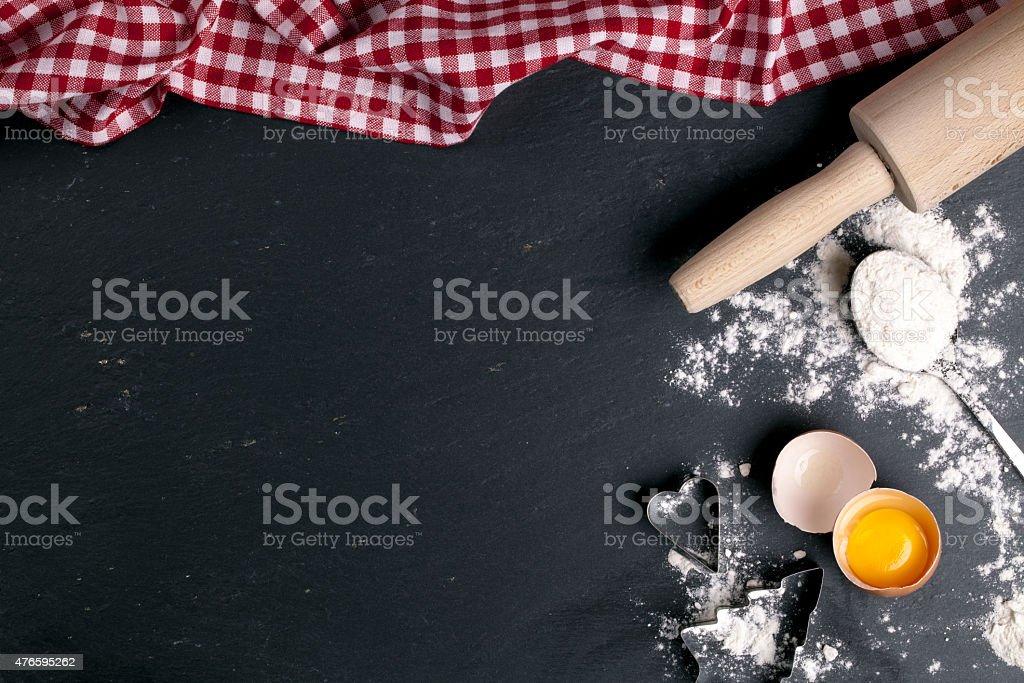 christmas bakery background stock photo