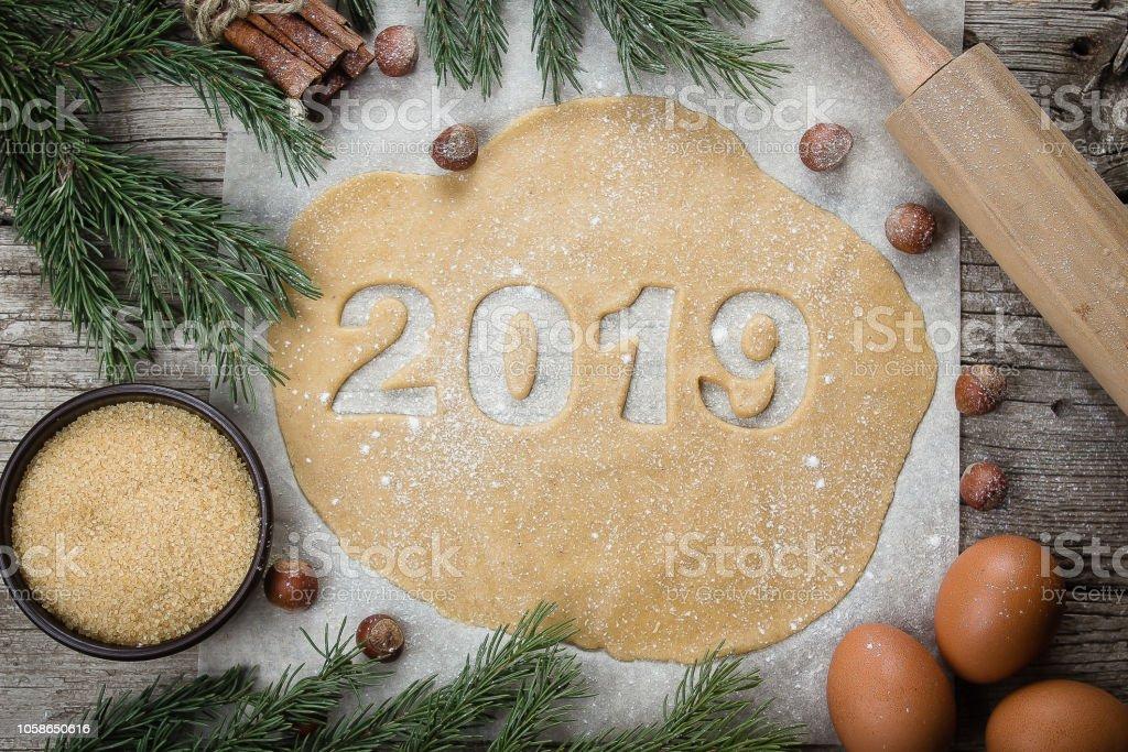 Neue Weihnachtsplätzchen 2019.Weihnachtsbäckereikonzept Lebkuchen Rohteig Für Weihnachtsplätzchen
