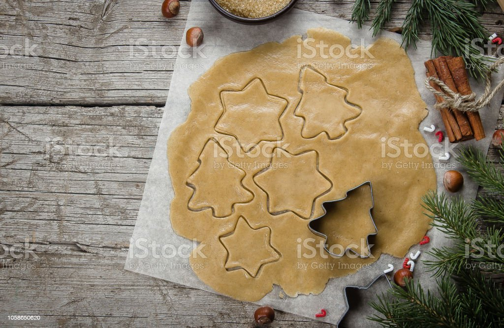 Christmas Cookie Recipes 2019.Christmas Bakery Concept Gingerbread Raw Dough For Christmas