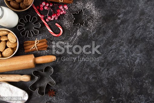 istock Christmas Baking Background 1067105218