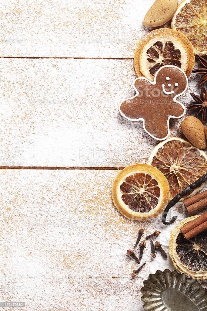 Christmas baking background royalty-free stock photo