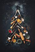 istock Christmas baking background 869077434