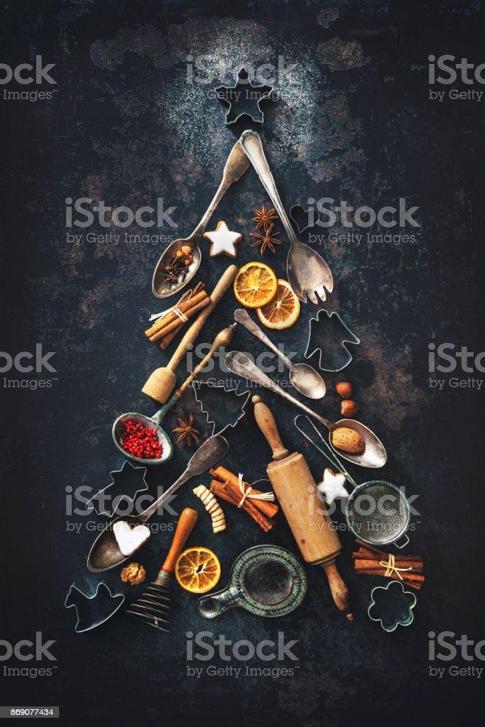Assar fundo de Natal - foto de acervo