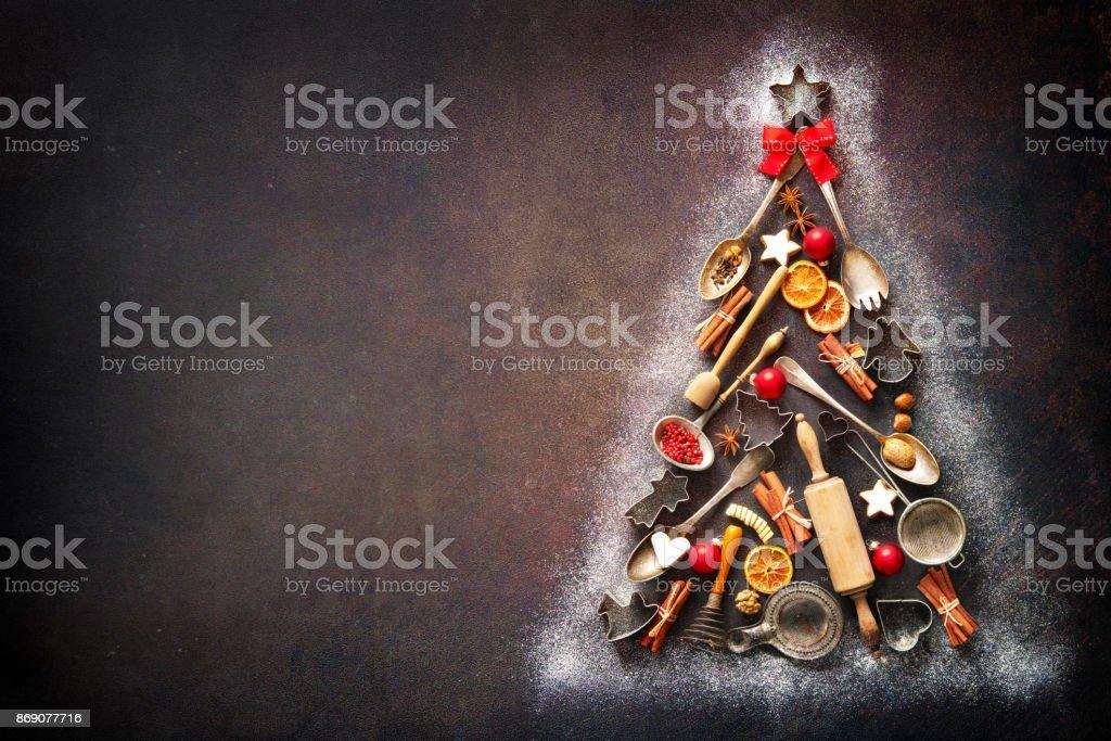 Christmas baking background stock photo