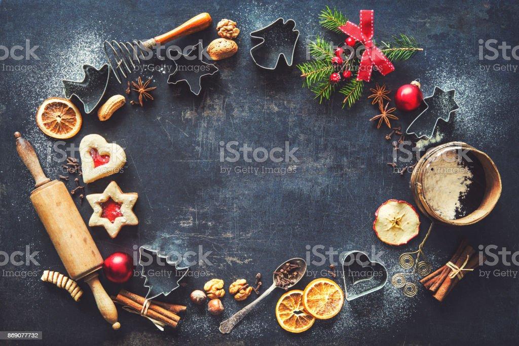 Weihnachten Backen Hintergrund – Foto