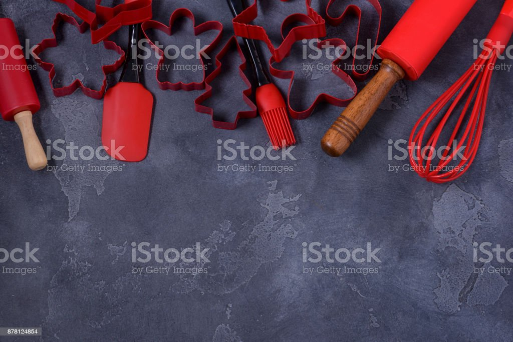 Christmas baking background stock photo