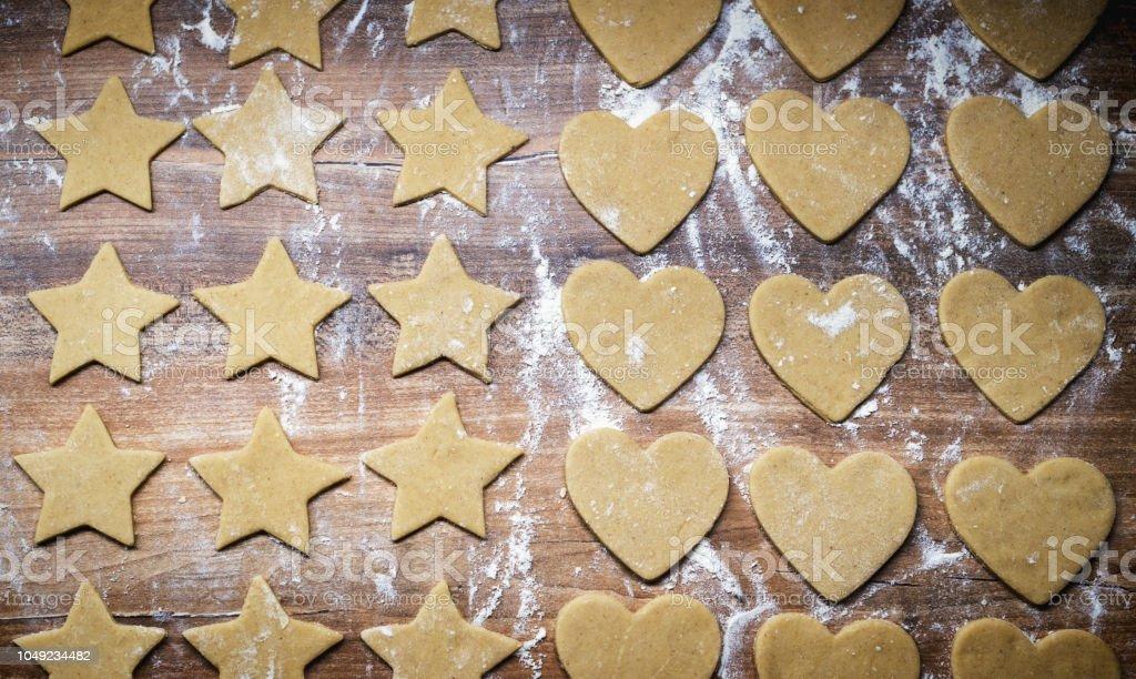 Kekse Backen Weihnachten.Weihnachten Backen Lebkuchenkekse Zu Machen Cookieteig In