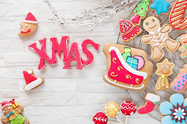 크리스마스 베이킹 스톡 사진