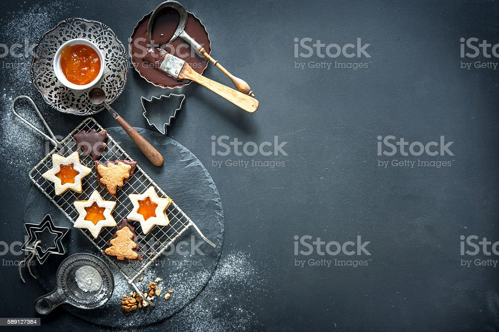 Christmas baking stock photo