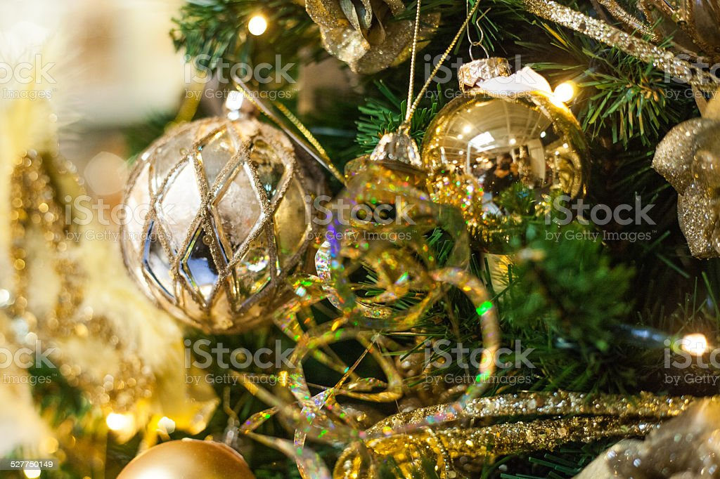 christmas ball and background stock photo