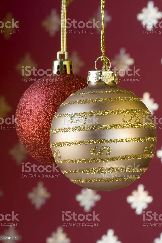 Christmas ball background (selective and soft focus) royalty-free stock photo