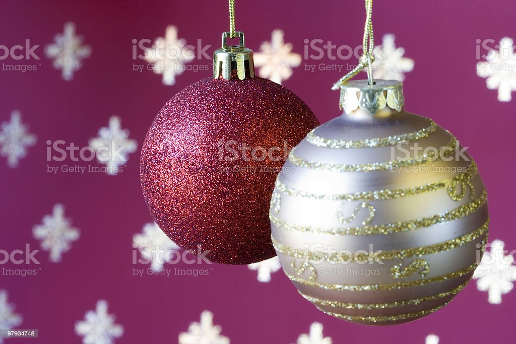 Christmas ball background (selective a soft focus) royalty-free stock photo