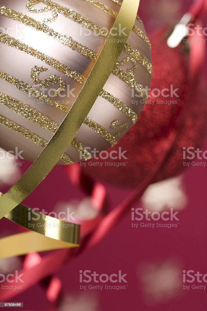Christmas ball background royalty-free stock photo