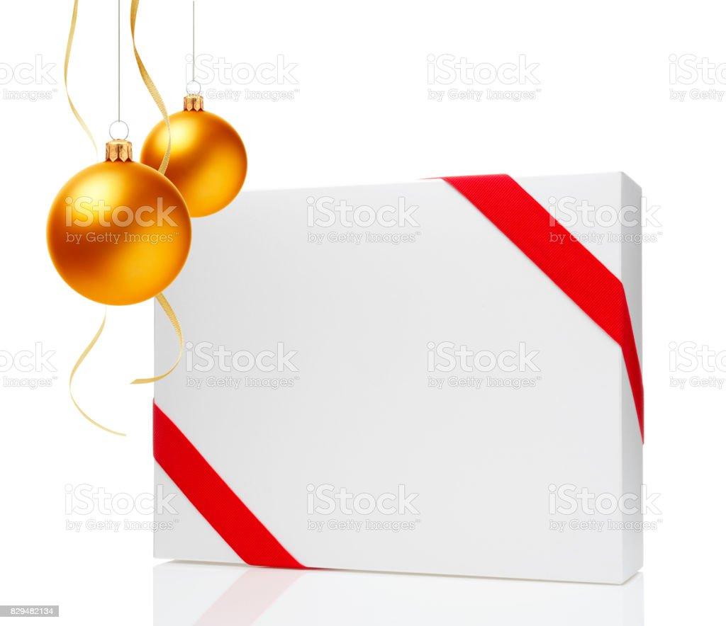 Christmas Ball & Gift Box stock photo