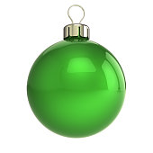 istock Christmas ball green New Year's Eve bauble wintertime decoration 1011782550