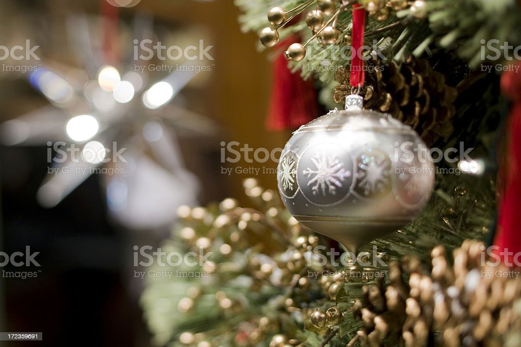 Christmas ball hanging on tree royalty-free stock photo