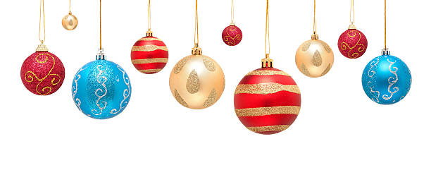 Christmas ball isolated on white background Christmas ball decoration isolated on white background. christmas ornament stock pictures, royalty-free photos & images