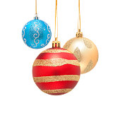 istock Christmas ball isolated on white background 522884299