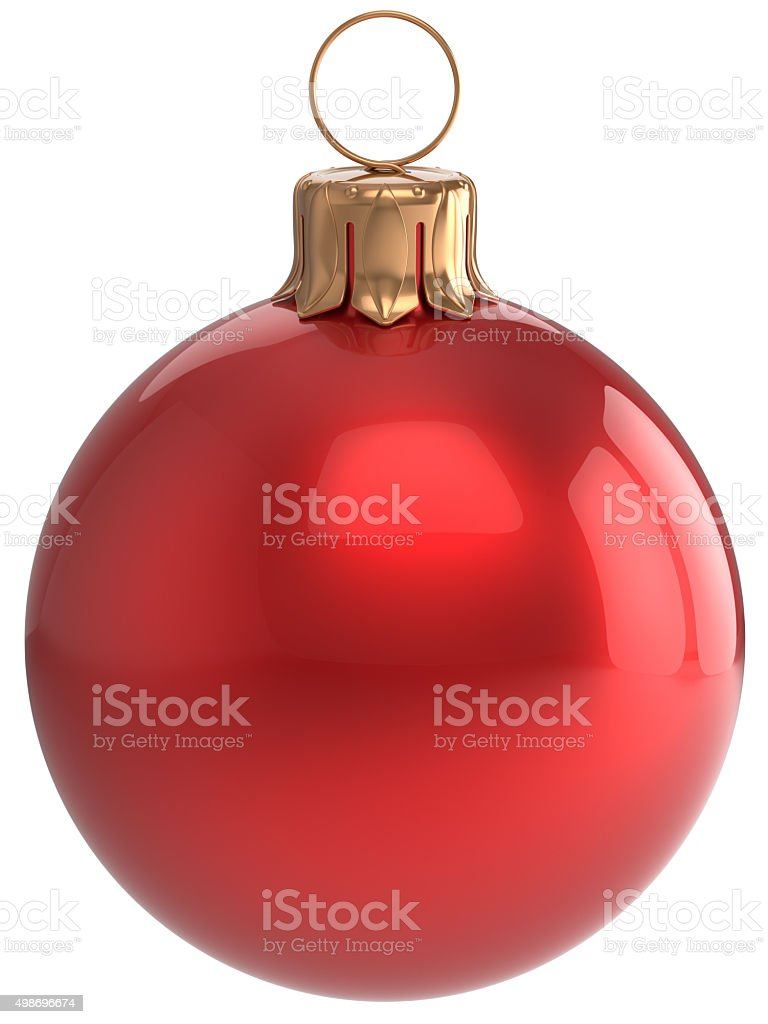 Christmas ball New Year's Eve bauble red  Xmas decoration stock photo