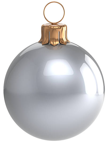 christmas ball sylwester zapełniliśmy biały świąteczne dekoracje - new year zdjęcia i obrazy z banku zdjęć