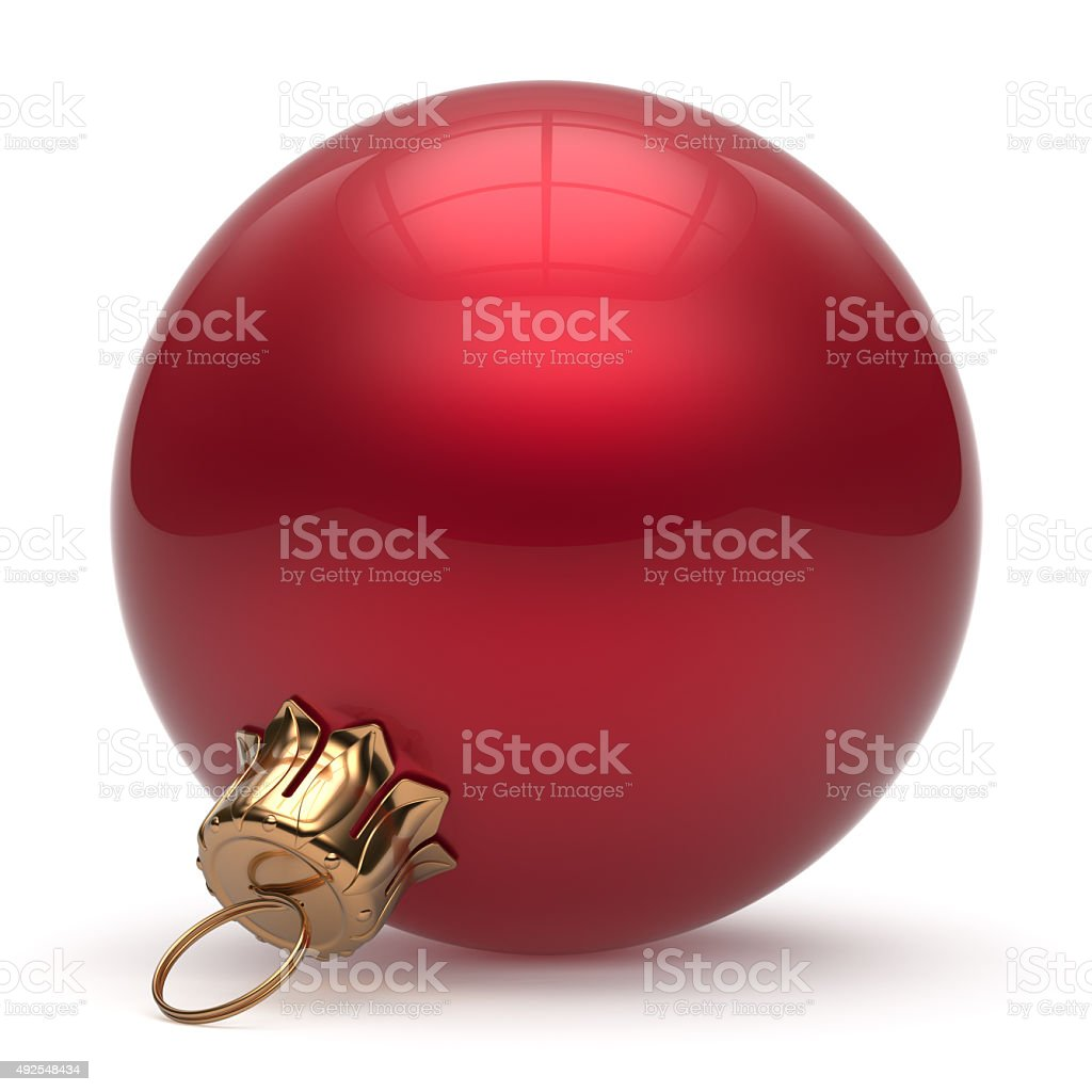 Christmas ball New Years Eve bauble wintertime decoration red stock photo