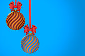 istock christmas ball on blue background. Isolated 3D illustration 1271262126
