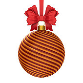 istock christmas ball on white background. Isolated 3D illustration 1270556794