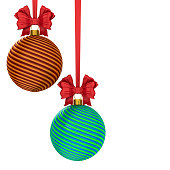 istock christmas ball on white background. Isolated 3D illustration 1270890408