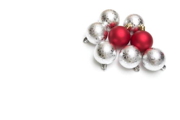 christmas ball on white background stock photo