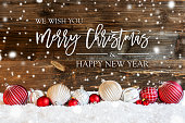 istock Christmas Ball Ornament, Snow, Merry Christmas And A Happy New Year, Snowflakes 1277102094