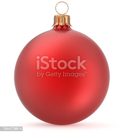 istock Christmas ball red New Year's Eve decoration hanging bauble 1044279914