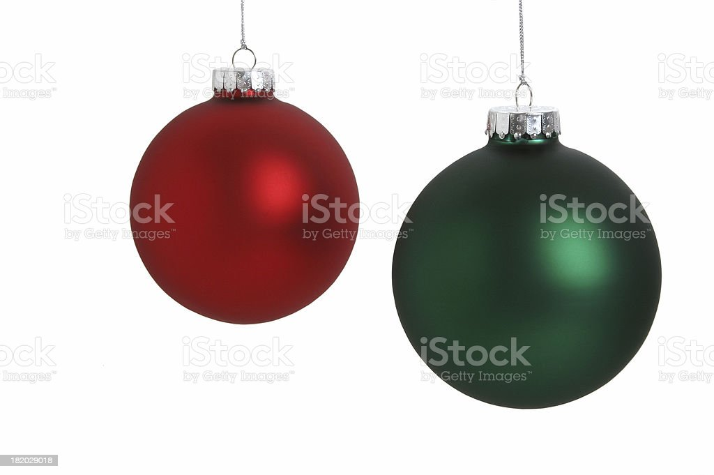 Christmas Ball Series (on white) royalty-free stock photo