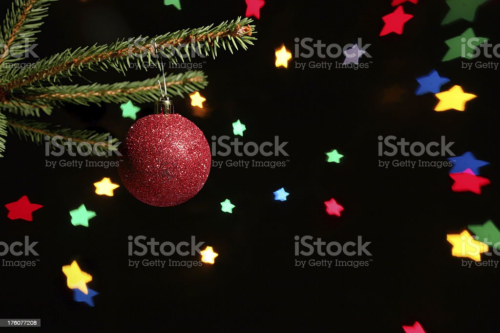 Christmas ball with stars royalty-free stock photo
