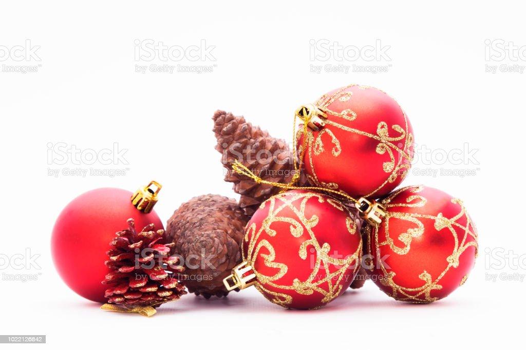 christmas balls and ornaments stock photo