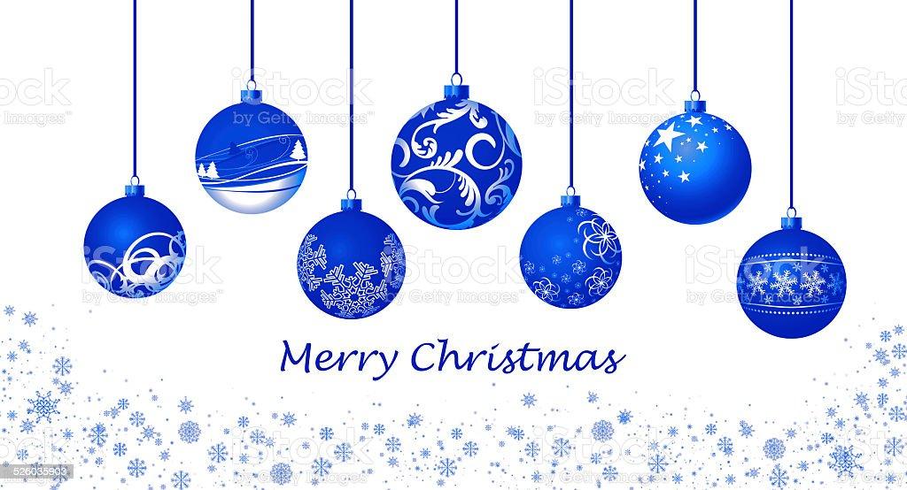 weihnachtskugeln blau