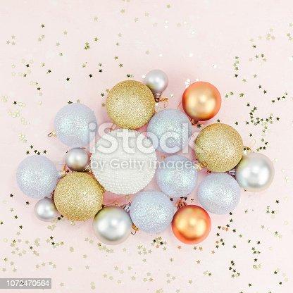 istock Christmas balls decoration 1072470564