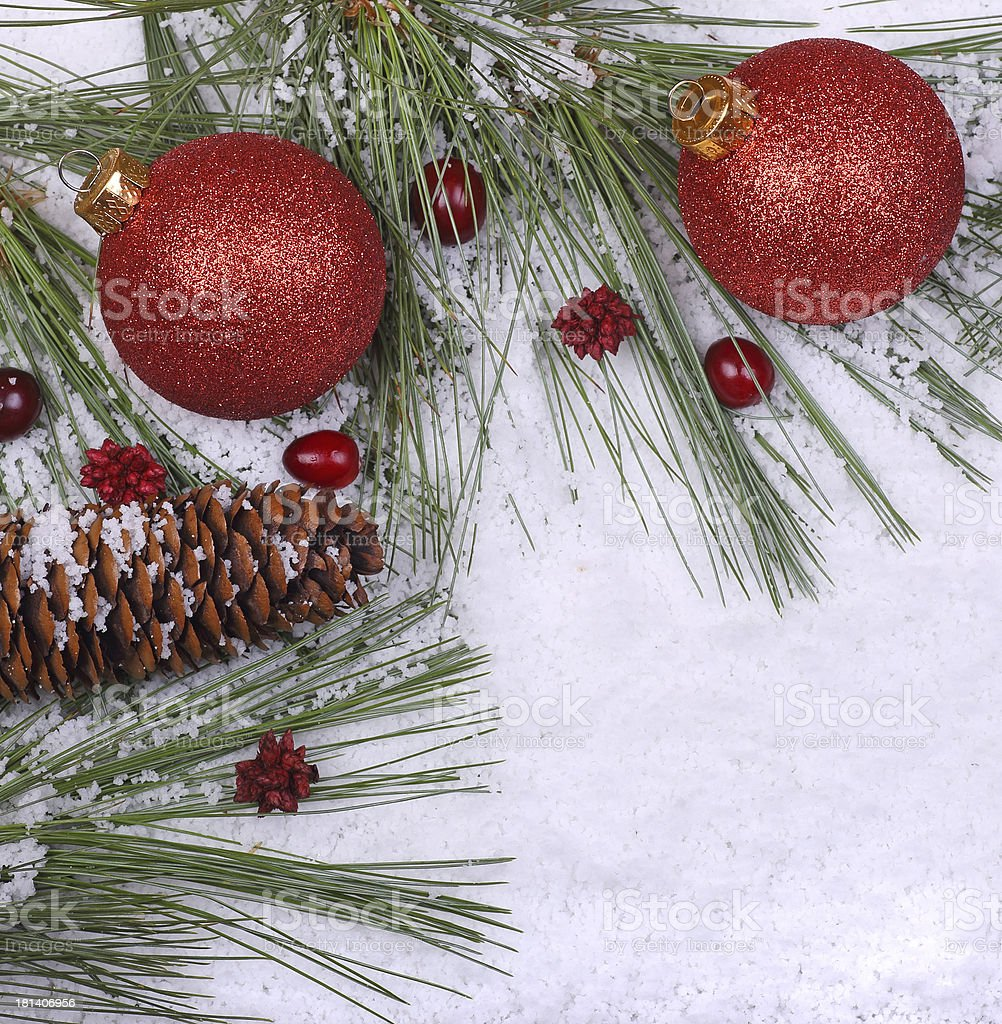 Christmas Balls Decorations royalty-free stock photo