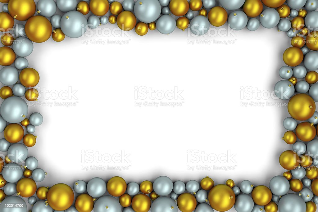 christmas balls frame royalty-free stock photo