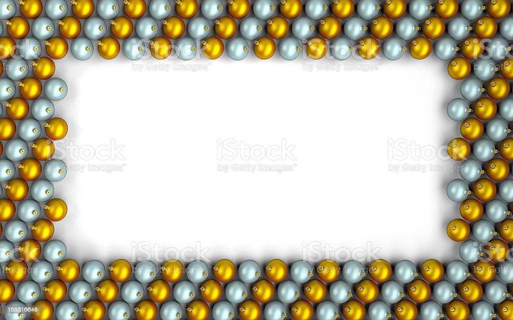 Bolas de Navidad bastidor - foto de stock