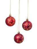 istock Christmas balls isolated on white background. 187391886