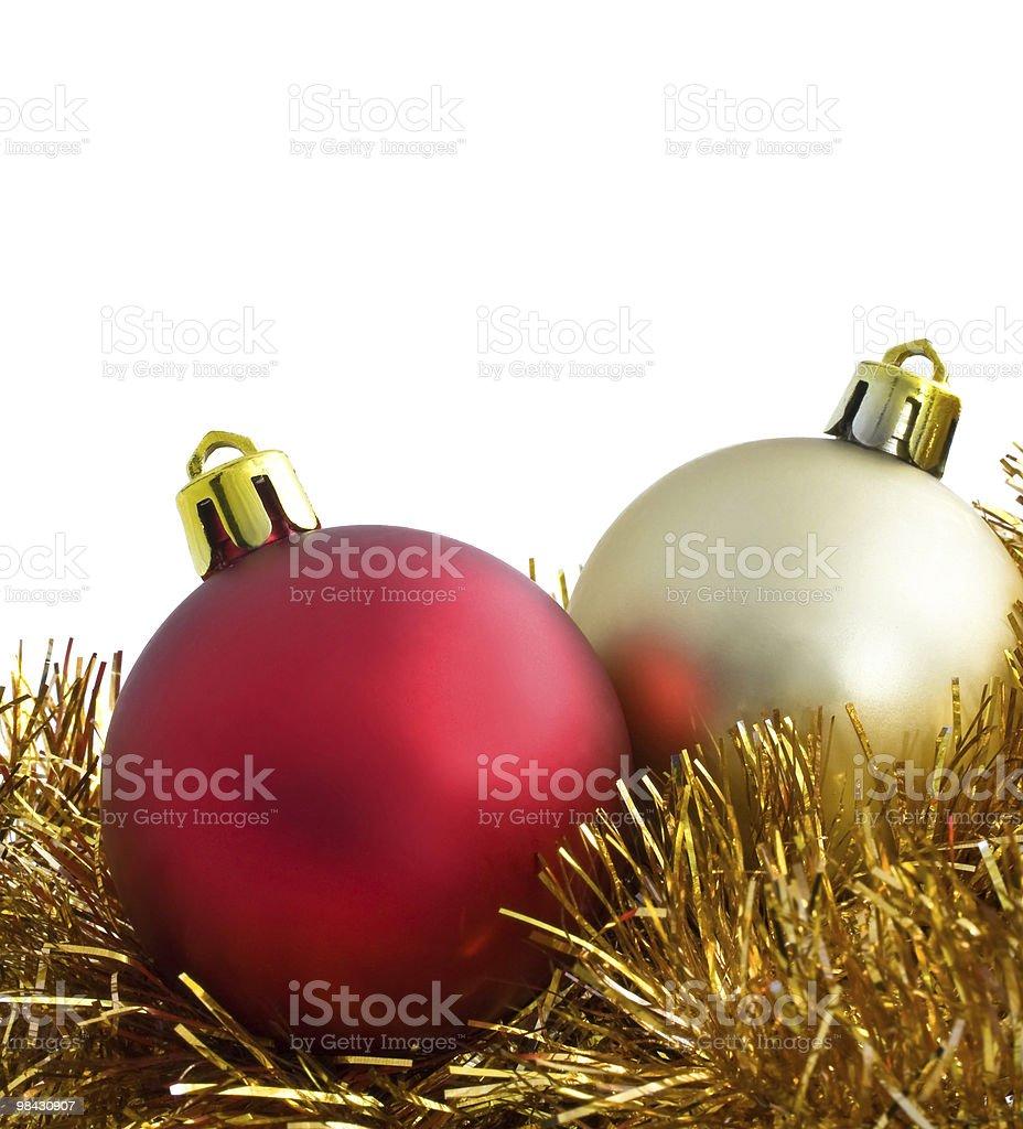 christmas balls isolated on white background royalty-free stock photo
