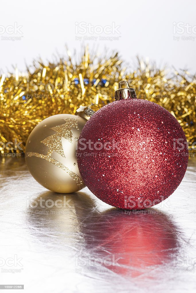 Christmas balls on abstract background royalty-free stock photo