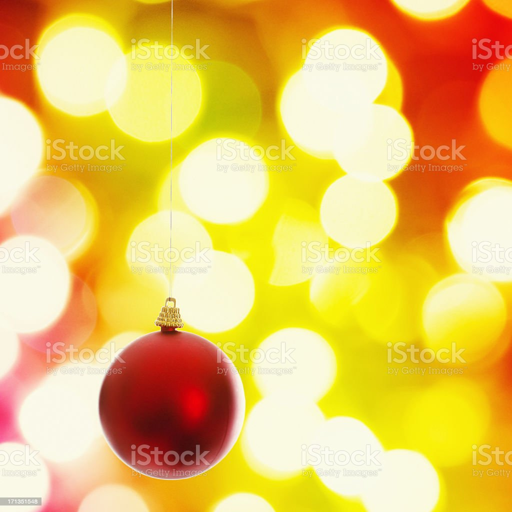 Christmas balls on defocus light ornament royalty-free stock photo