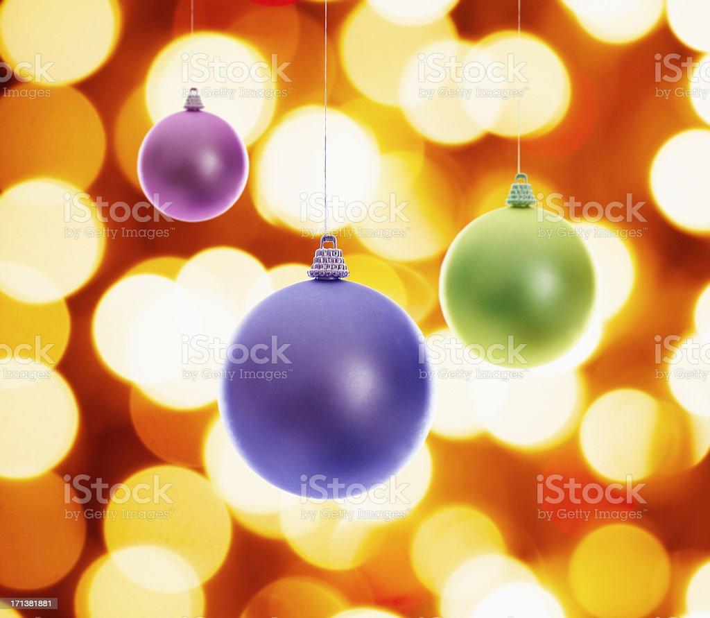 Christmas balls on defocus light ornament royalty-free stock photo