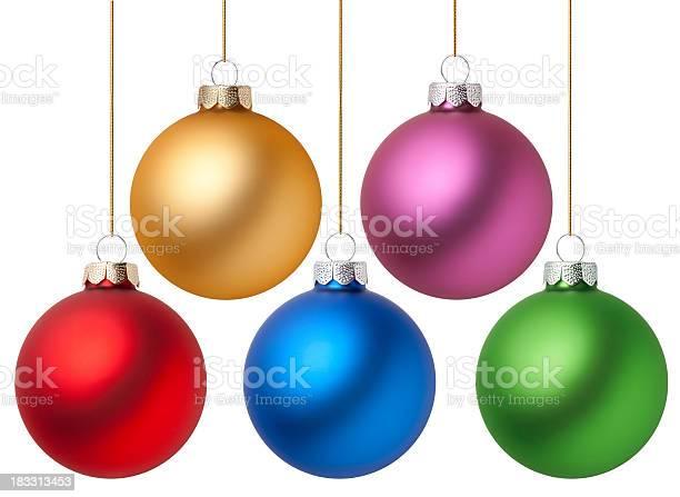 Photo libre de droit de Boules De Noël banque d'images et plus d'images libres de droit de Blanc