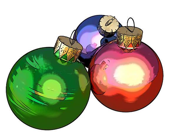 weihnachts-bälle (nutzung von tooncamera/codeorgana) - weihnachtsbilder zum ausmalen stock-fotos und bilder